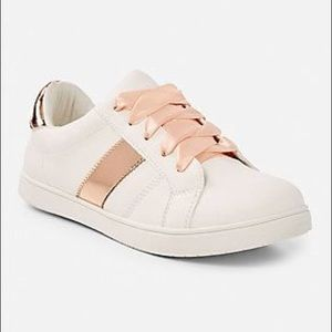 Justice Rose gold sneakers